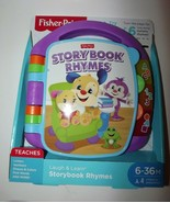 Fisher-Price Laugh & Learn Storybook Rhymes Book Purple Includes 2-AA Ba... - $16.42