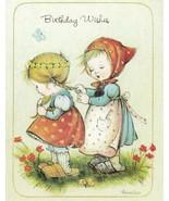 Vintage Birthday Card Girls Braid Hair Annaliese Unused With Envelope - $9.89