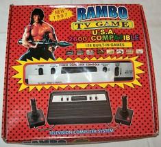 NEW NIB NOS Rambo TV Games Atari 2600 Clone legendary game console 128 Games #04 - $180.00