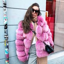 Women's Winter Luxury Fashion Faux Fur Shaggy Thicken Warm Coat image 12