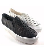 Restricted Vanness Black Round Toe Thick Bottom Slip On Sneakers - £31.51 GBP