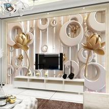 Beibehang Custom gold rose murals landscape 3D living room wallpaper for walls - $35.95