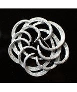 Vintage Restored 1967 Sarah Coventry Tailored Swirl Brooch Silver Glitte... - $12.86