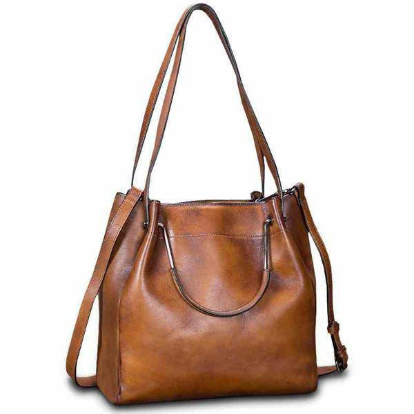 Sale, Full Grain Leather Handbag, Women Designer Shoulder Bag