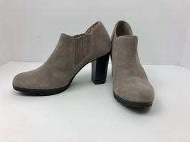White Mountain Senta Stone Suede Heel Ankle Boots - Women 6.5 - £15.89 GBP