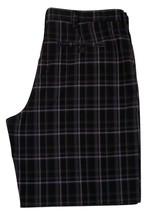 "IZOD Plaid Flat Front Golf Shorts Men's W36 Inseam 9"" 100% Polyester image 3"
