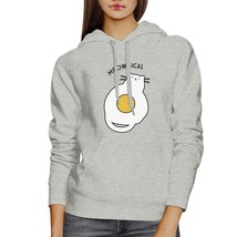 Meowgical Cat And Fried Egg Grey Hoodie - $25.99+