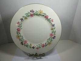 Pickard China Garland Dinner Plate  (Plates) Pink Purple Yellow Flowers - $9.50