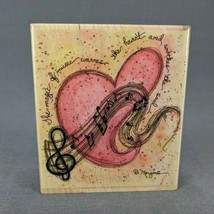 Rubber Stamp The Magic of Music by D. Morgan Heart Notes 70049 - $9.70