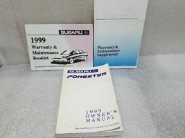 1999 Forester Owners Manual 3pc Set 19295 - $13.85