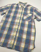 Men's Levi's White | Yellow | Blue Plaid S/S Button Down Shirt - $69.00