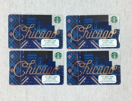 Starbucks Chicago River Bridge at Night 2017 Gift Card Lot of 4 NO VALUE - $9.79