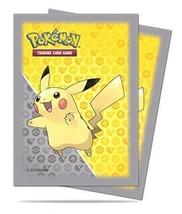 65 Ultra PRO Pikachu Pokemon Deck Protectors Sleeves Grigio Giallo Stand... - $37.36