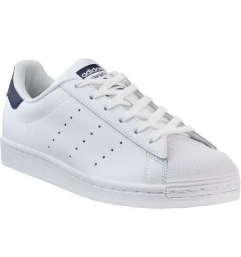 Adidas Women's SuperStan Sneakers Leather White Navy Size 7 NEW Superstar - $43.53