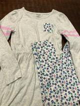Gymboree Girls Dress Tunic Leggings Floral Size 7 Long Sleeve (2 PC) Gray - $16.35
