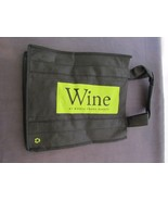 NOS Whole Foods Reusable Wine Bag - holds 6 wine bottles - Black and Green - $5.94
