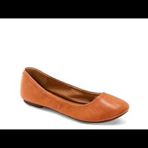 Lucky brand emmie leather flats cognac color size 7M - $19.59