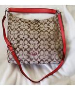 Coach Celeste Women Convertible Hobo Bag Khaki Cardinal W/WRISTLET - $123.75