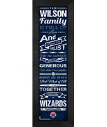 """Personalized Washington Wizards """"Family Cheer"""" 24 x 8 Framed Print - $39.95"""