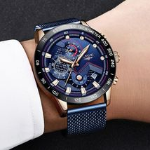 LIGE 2019 Mens Watches Top Brand Luxury Waterproof Fashion Watch Quartz Watch image 6