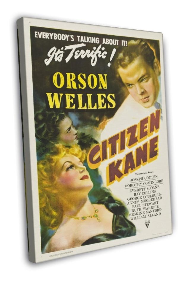 Citizen Kane 1941 Vintage Movie FRAMED CANVAS Print 2 for sale  USA