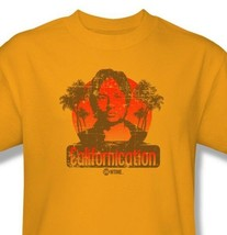 Californication T shirt TV show Free Shipping distressed cotton gold tee CBS759 image 1