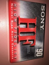 Sony HF 90 ~ Normal Bias I High Fidelity Audio Cassette Tape ~ New Sealed - $5.81