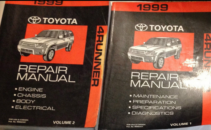 Primary image for 1999 Toyota 4RUNNER 4 RUNNER Service Shop Repair Workshop Manual Set NEW