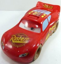 Cars Talking Lightning McQueen Mud Track - Movable Eyes - Disney Pixar- RARE image 2