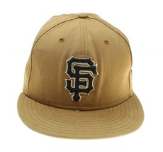VTG NEW ERA San Francisco SF Giants Khaki Tan 59 Fifty Fitted Hat Cap Sz... - $24.74