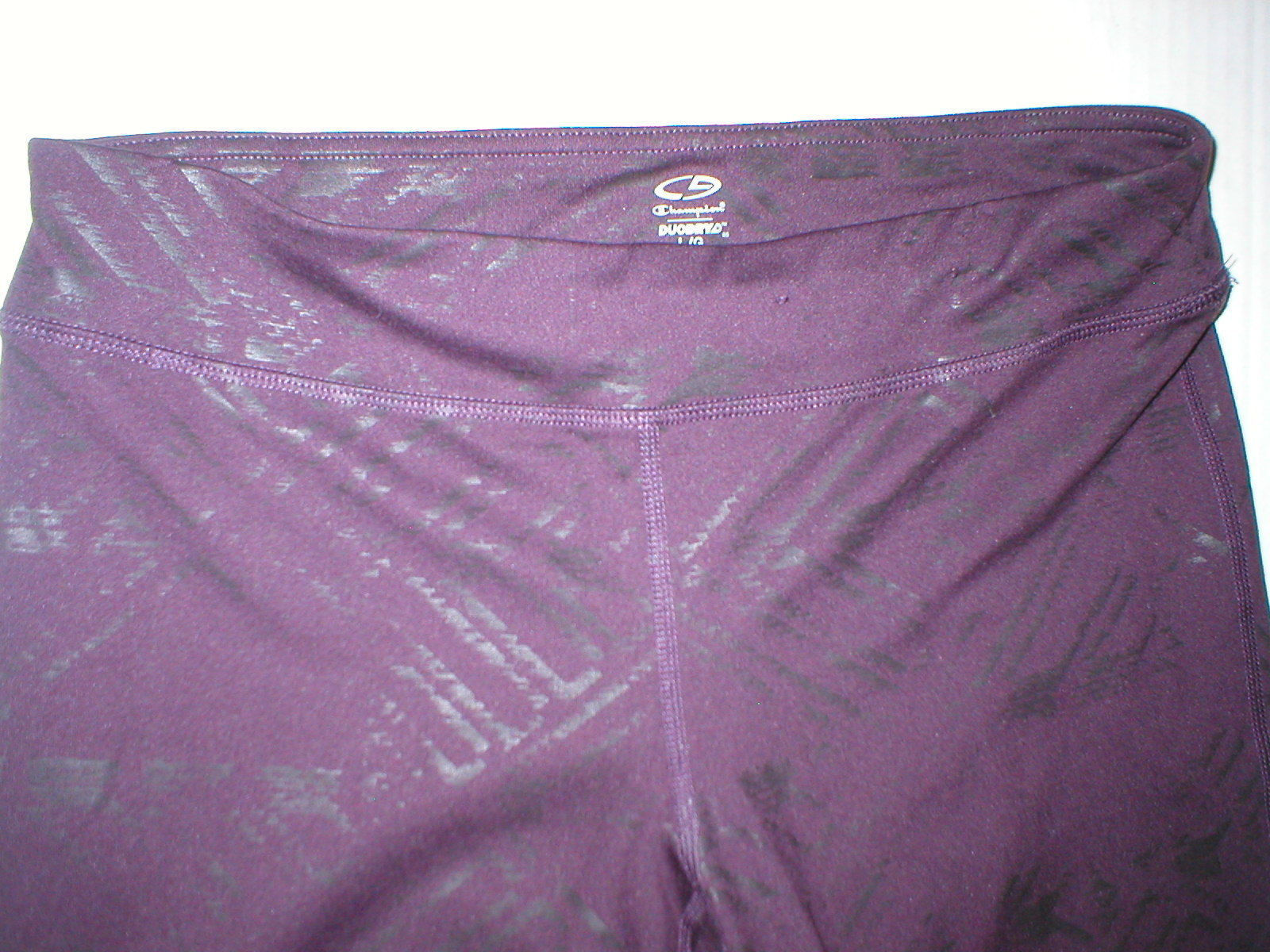 Womens Leggings C9 Champion Pants L Run Pilates Yoga Dark Purple Black Foil image 2