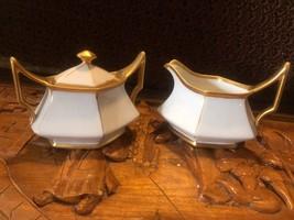 TRESSEMANES & VOGT - ANTIQUE T&V Limoges Depose White With Gold Gilding ... - $14.96