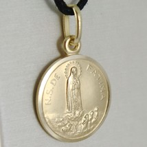 Pendant Yellow Gold Medal 750 18k, Madonna, Our Lady of Fatima, 15 MM image 2