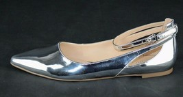 Franco Sarto Sylvia women's ballerina shoes buckle metallic silver size 9M - $17.59
