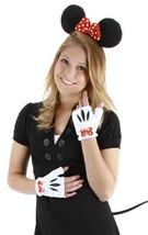 Minnie Mouse Ears Tail Hands Polka-Dotted Bow Licensed Costume Accessory... - $25.15