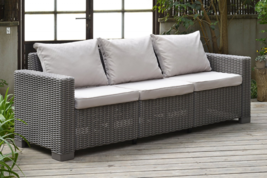 3 Seater Rattan Sofa Outdoor Garden Furniture -... - $366.60