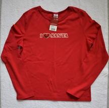 Target Brand Girl's I Heart Santa Red Long Sleeve Shirt - $4.99