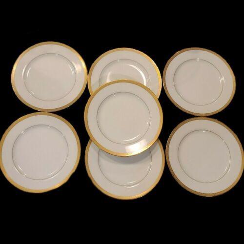 "Lot of 7 VTG Regency GOLD PATTERN 7.75"" Plates Fine China Japan - $41.61"