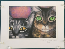 Cat Art Notecard - Close Up Cats - $4.50