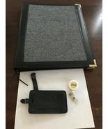 IBM Lot Leather Zippered Binder Folio Organizer, Thinkpad Luggage Tag & ... - $25.00