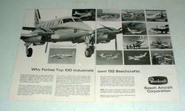 1968 Beechcraft King Air Plane Ad - Top Industrials Own - $14.99