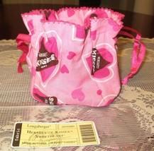 Longaberger Hershey Kisses Sweetheart Drawstring Basket Liner Candy Pouc... - $15.00