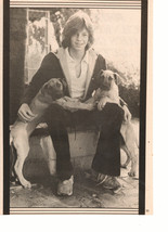 Jimmy Mcnichol teen magazine pinup clipping black and white puppies outside - $3.00