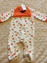 NEW Just One You White Orange Pumpkins Ghosts Bats Pajamas Hat Costume 6... - $6.43