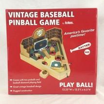 NIB Vintage Baseball Pinball Game Miniature Pinball Machine Toy by Totes - $28.04