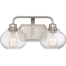 Quoizel TRG8602BN Trilogy 2-Light Bath Light, Brushed Nickel - $223.18
