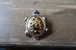 Danecraft Silver and Gold Tone Turtle Brooch - $8.90