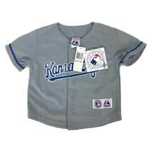 MLB Majestic Kansas City Royals Baby Infant Size Baseball Jersey Sewn Si... - $18.66
