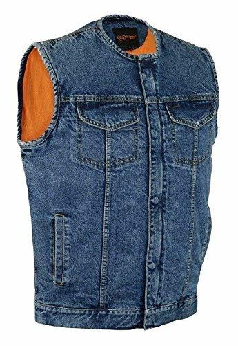 Primary image for Daniel MEN'S MOTORCYCLE RIDING SON OF ANARCHY BLUE DENIM VEST W/CONCEAL POCKETS