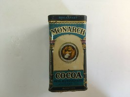 Monarch Cocoa Tin w/ Hinged Lid Reid Murdoch & Co Chicago Illinois  - $12.00